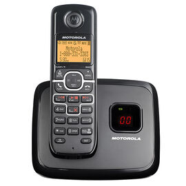 Motorola 1 Handset Cordless Phone with Answering Machine - Black - L701