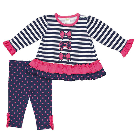 Baby Mode Bows Jersey Legging Set - 12-24 months - Assorted