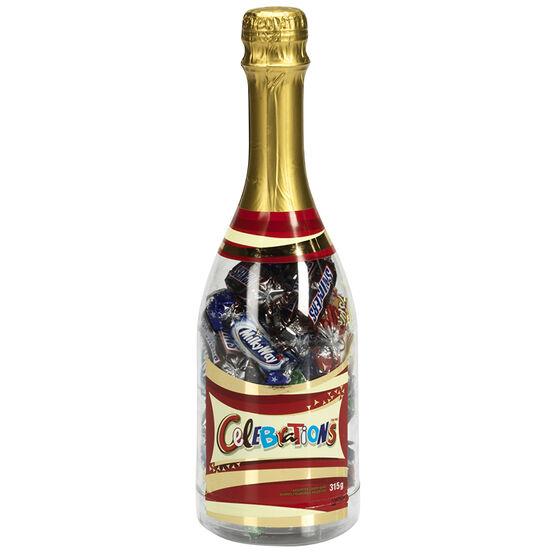 Celebrations Assorted Chocolate Bar Bottle - 315g