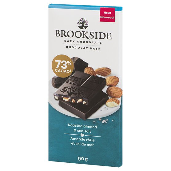 Brookside Dark Chocolate Bar - Roasted Almond & Sea Salt - 90g