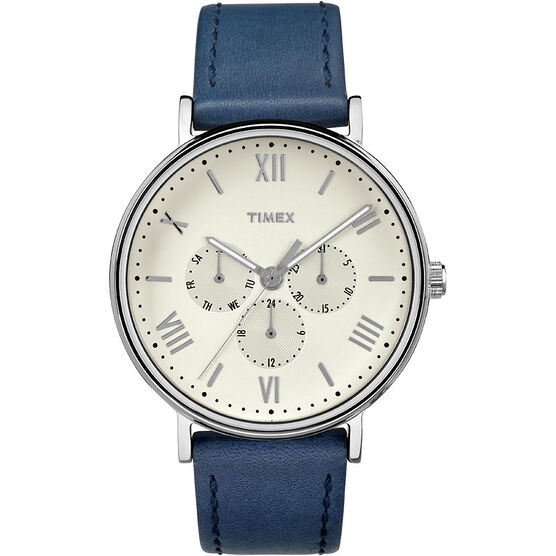 Timex Main St. Collection Watch - Blue/Silver - TW2R29200ZA