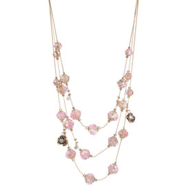 Betsey Johnson Flower Beads Necklace - Pink