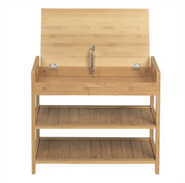 London Drugs Bamboo Storage Bench with 2 Shelves