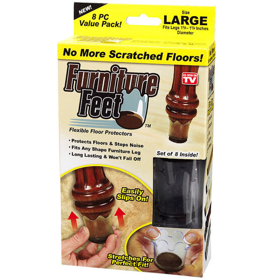 Furniture Feet - Clear - Large - 8's