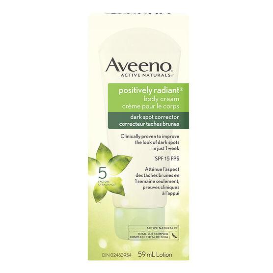 Aveeno Active Naturals Positively Radiant Body Cream Dark Spot Corrector - 59ml