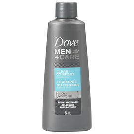 Dove Men+Care Clean Comfort Body & Face Wash - 88ml