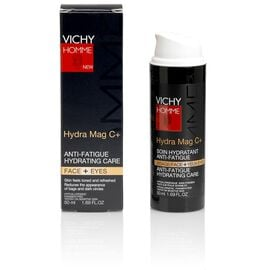 Vichy Homme Hydra Mag C+ Anti-Fatigue 2-in-1 Moisturizer for Face & Eyes - 50ml