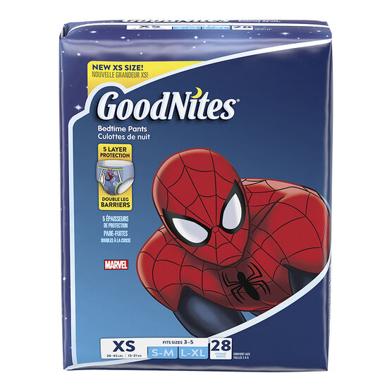 GoodNites Youth Pants for Boys - Extra Small - 28s