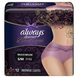 Always Discreet Boutique Underwear Maximum - Small/Medium - 12's