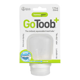 Go Toob+ Squeezable Travel Tube - Clear - 53ml