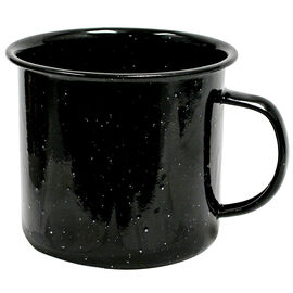 Enamel Camping Mug - Black - 18oz