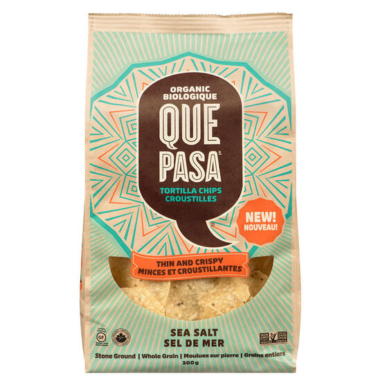 Ques Pasa Tortilla Chips - Thin and Crispy - Sea Salt - 300g