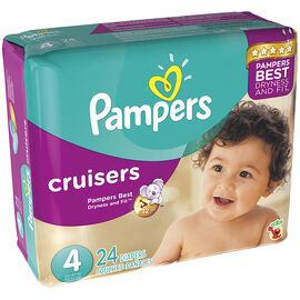 Pampers Cruisers Diapers - Size 4 - 24's
