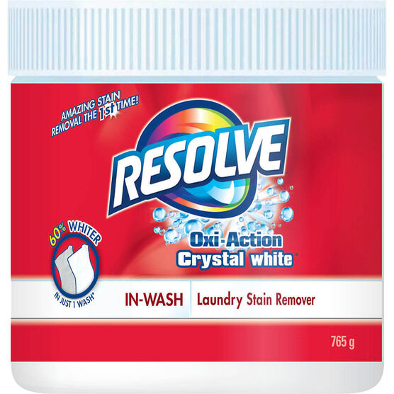 Resolve Crystal White Powder Stain Remover - 765g