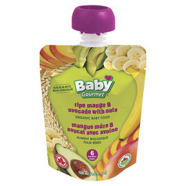 Baby Gourmet Baby Food - Ripe Mango and Avocado with Oats - 128ml