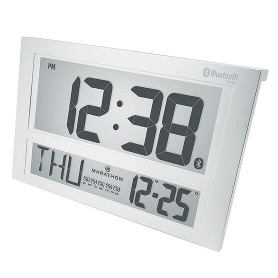 Marathon Atomic Blue Tooth Clock - Silver - CL800003