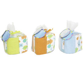 Honey Bunny Washcloth In Mesh Bag - 8 Pack - Assorted Colours