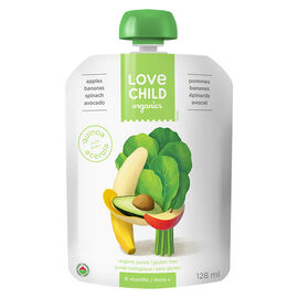 Love Child Apples, Bananas, Spinach and Avocado - 128ml