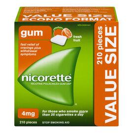 Nicorette Gum - Fresh Fruit - 4mg - 210's