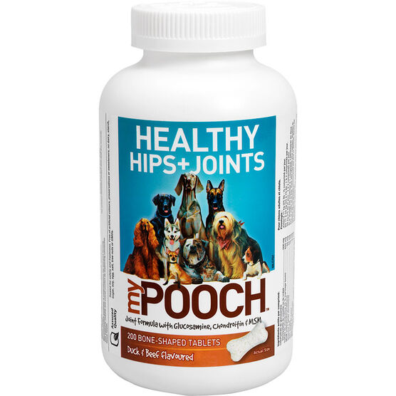 My Pooch Healthy Hips + Joints Joint Formula - Duck & Beef Flavoured - 200s