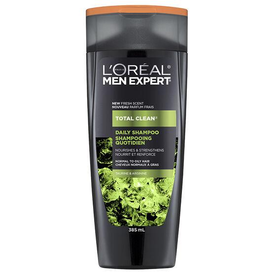 L'Oreal Men Expert Total Clean Daily Shampoo - Taurine & Arginine - 385ml