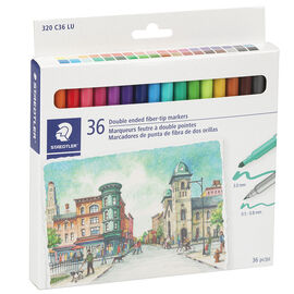 Staedtler Double Ended Fibre-Tip Markers - 36's