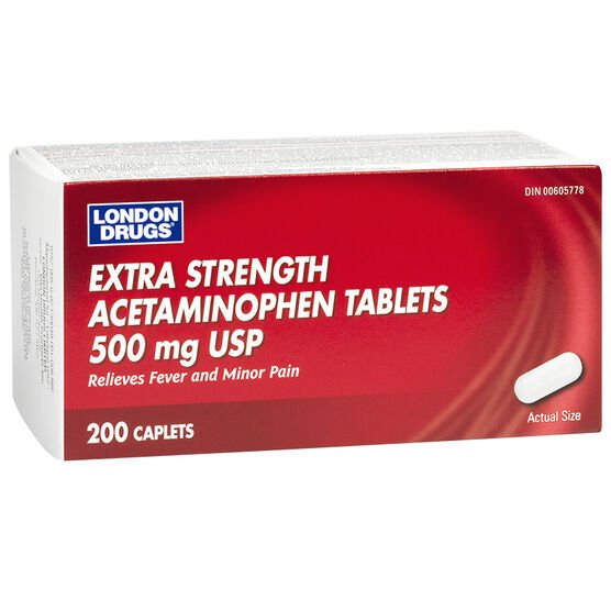 London Drugs Acetaminophen Extra Strength - 500mg - 200's