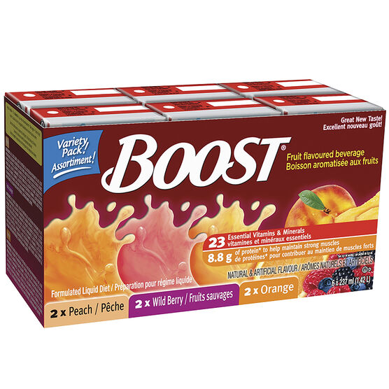 Boost Fruit Flavoured Beverage - Variety - 6 x 237ml