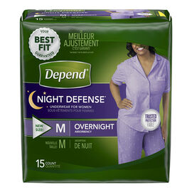 Depend Night Defense Underwear for Women Overnight - Medium - 15's