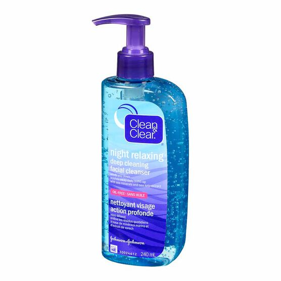 Clean & Clear Night Relaxing Deep Cleaning Facial Cleanser - 240ml