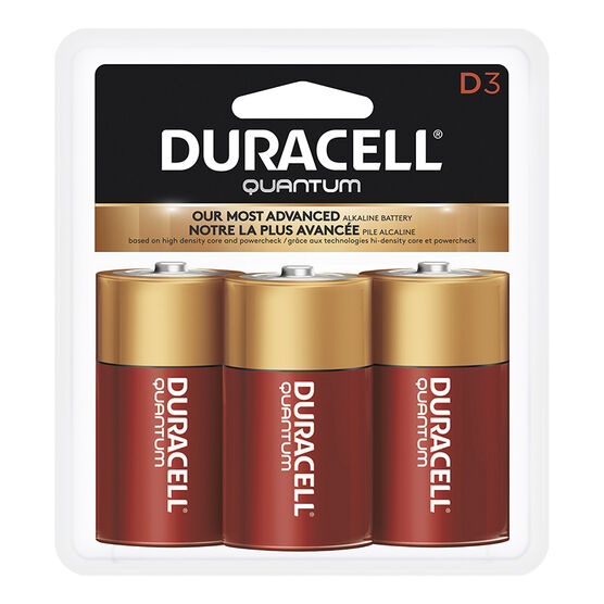 Duracell Quantum D Batteries - 3 pack