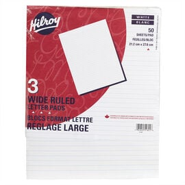 Hilroy Figuring Pad 8.5x11 Wide Ruled - 3 Pack