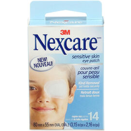 3M Nexcare Sensitive Skin Eye Patch - Regular Size - 14's