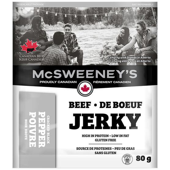 McSweeney Beef Jerky - Cracked Black Pepper - 80g