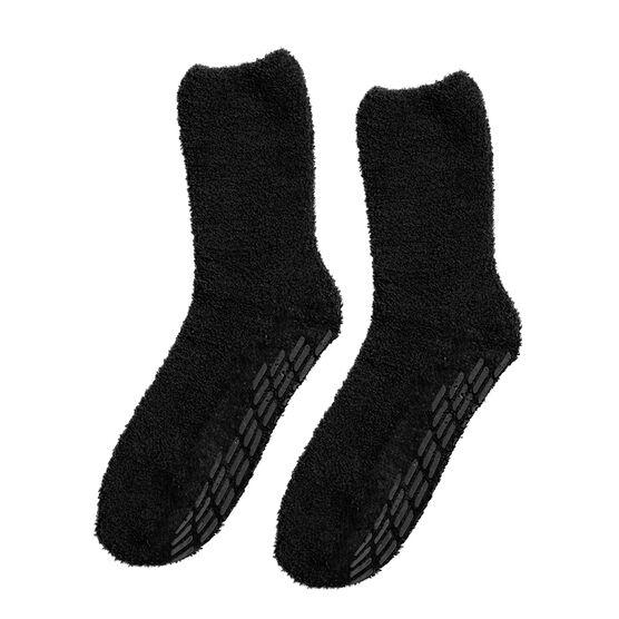 Silvert's Hospital Style Non-Skid Socks - Black - XL