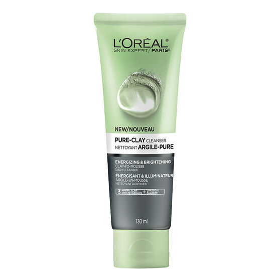 L'Oreal Pure-Clay Cleanser - Energizing & Brightening - 130ml