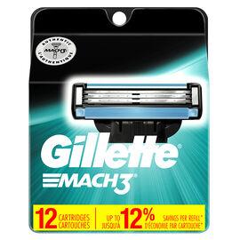Gillette Mach3 Cartridges - 12's