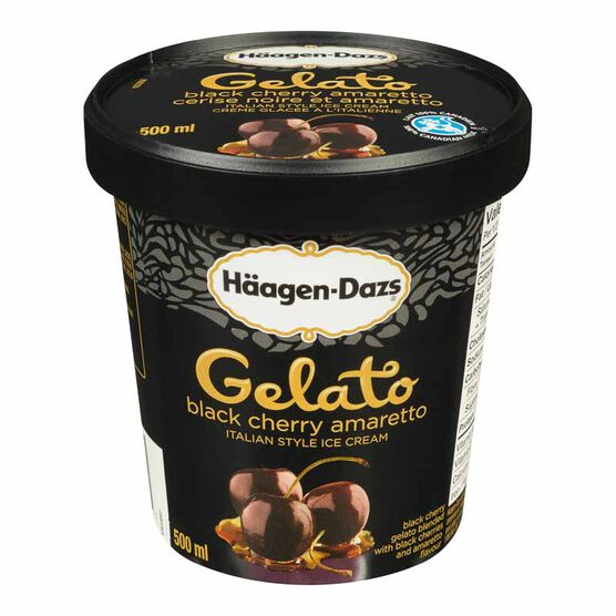 Haagen Dazs Gelato - Black Cherry Amaretto - 500ml