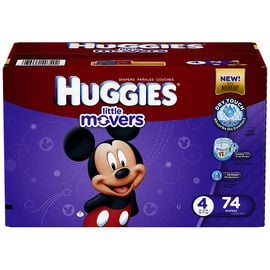 Huggies Little Movers Disposable Diaper - Size 4 - 74's