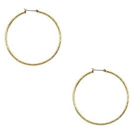 Anne Klein Hoop Earrings - Gold Tone