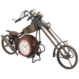 London Drugs Metal Motorcycle Desk Clock - Rusting Finish