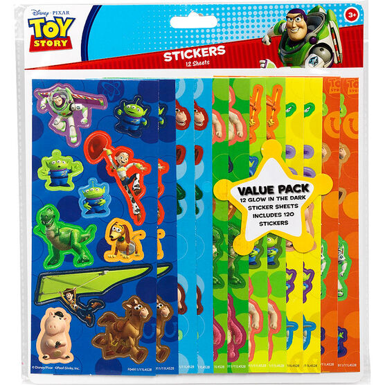 Toy Story Stickers Value Pack - 120 stickers