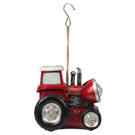 Décor Solar Tractor with Light - Red - AP3673RD