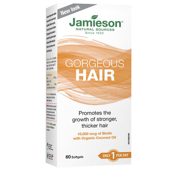 Jamieson Gorgeous Hair with Organic Coconut Oil - 60's