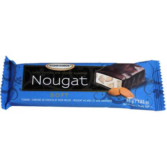 Golden Bonbon Almond Nougat - Chocolate Coated - 35g