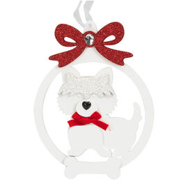 Peppermint Cocoa Dog and Cat Ornament - 5.7in
