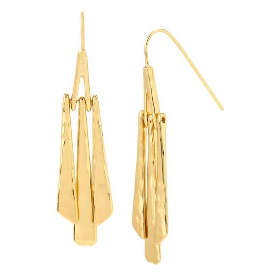 Robert Lee Morris Linear Stick Earrings - Gold