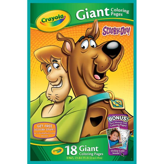 Crayola Giant Colouring Pages - Scooby Doo