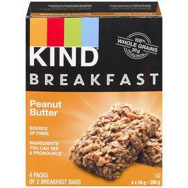 Kind Breakfast Bar - Peanut Butter - 50g/4 pack