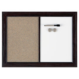Quartet Dry Erase and Cork Board - Espresso - 17x23 inches